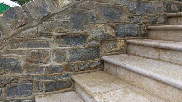 Sandstone steps with bullnose edge detail