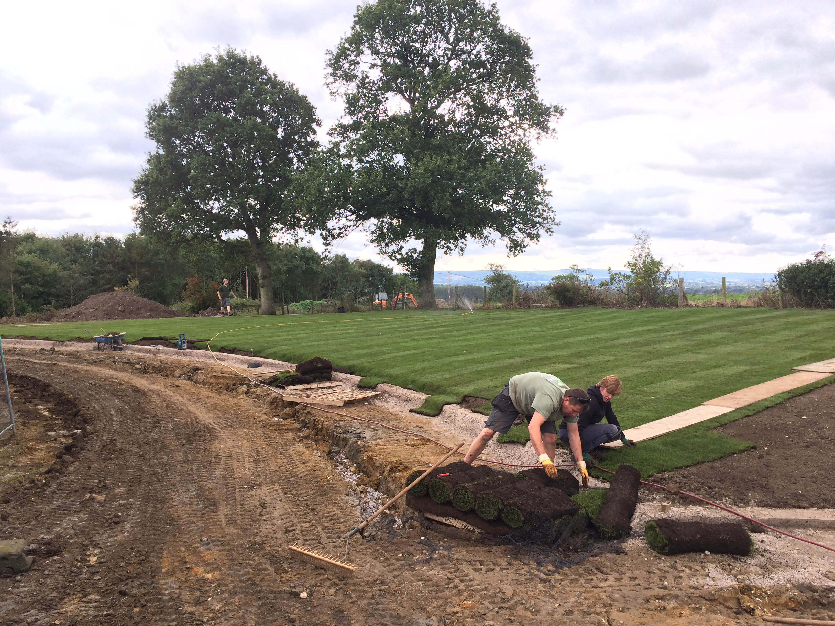 East Orchard Turf Laying